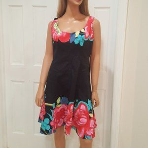 Nine West Black Floral Dress SIZE 10